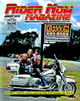 Rider Now Magazine, August 2010 Cover, pages 1-12, Click Here
